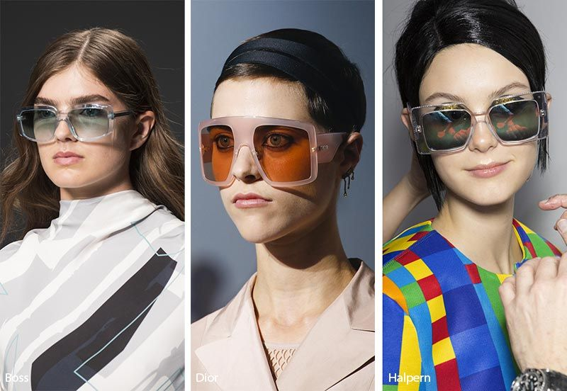 04ef9f7967ec2 Spring  Summer 2019 Sunglasses Trends  Big Square Sunglasses