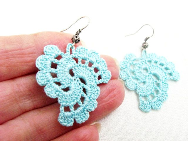 PDF Tutorial Crochet Pattern...Dangle Earrings -20 | Patrón de ...