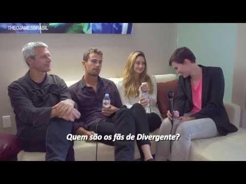 """Legendado: Estrelas de """"Divergente"""" caem na gargalhada! - YouTube"""