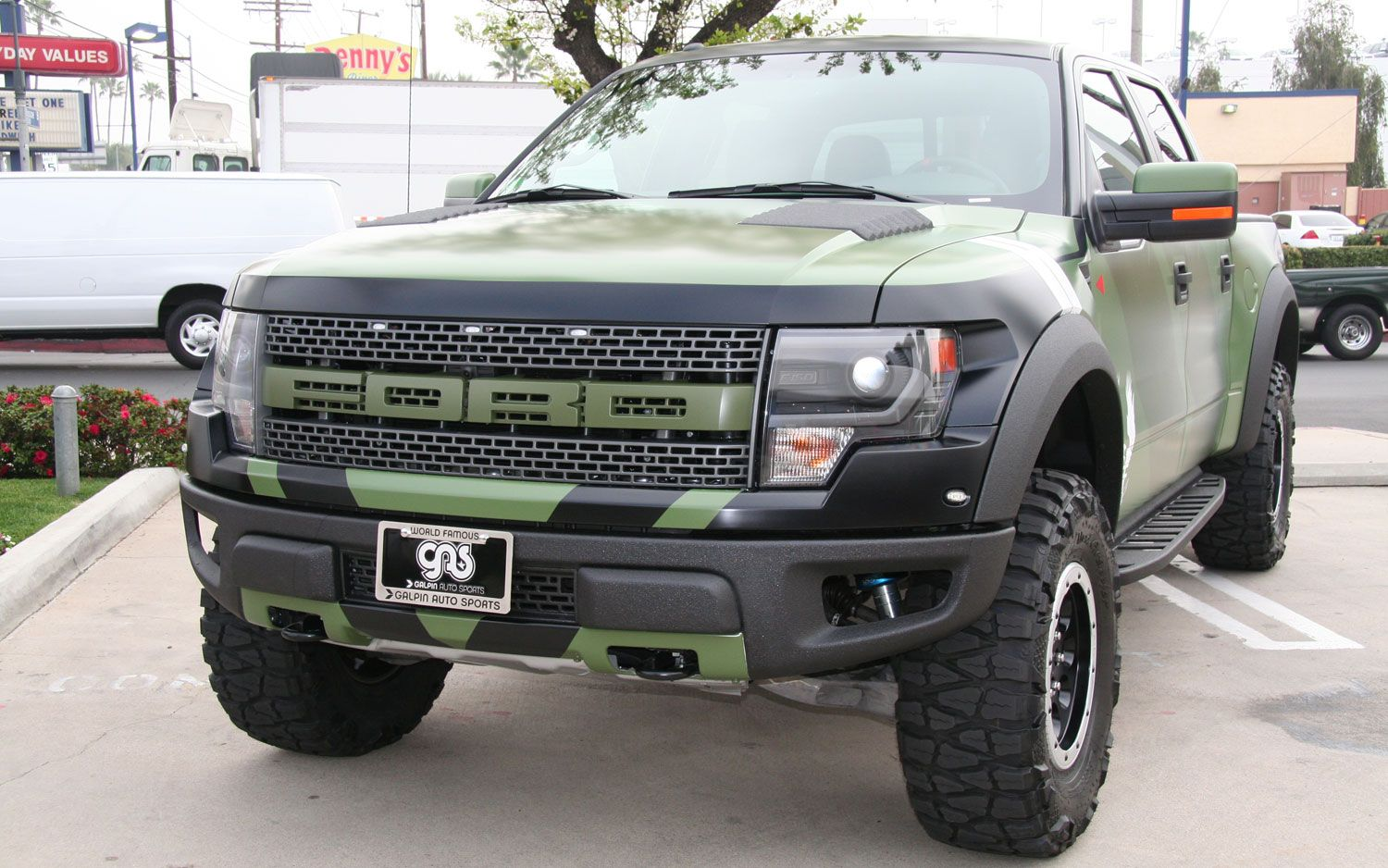 The ford svt raptor truck series extra wide stance specially engineered suspension and