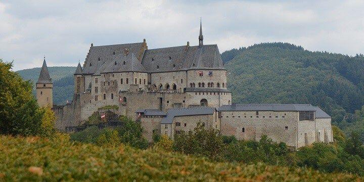 Vianden Castle, Vianden, Luxembourg, Europe