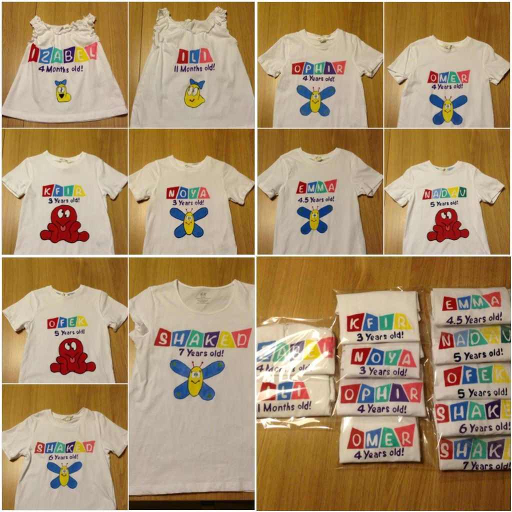Pocoyo Birthday Shirts T-shirts Tshirts Party Supplies Favor Decorations Age