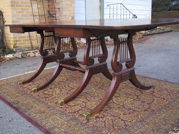 Drexel Travis Court Drop Leaf Mahogany Table Lyre Base 2 Classy Drexel Dining Room Furniture Design Decoration