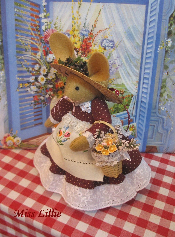 MISS LILLIE   Handmade Bunny Doll. $42.00, via Etsy.
