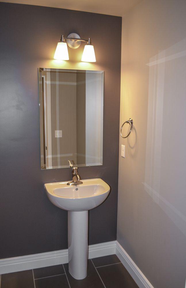 half bath pedestal sink  utah home builders house