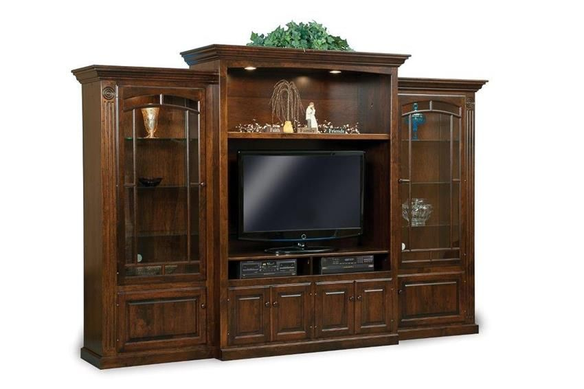 amish victorian three piece entertainment center wall unit on wall units id=86874