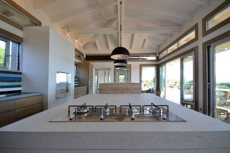 Arbeitsplatte aus Beton -kueche-ideen-gasherd-modern-halle-umbau - küchenarbeitsplatte aus beton