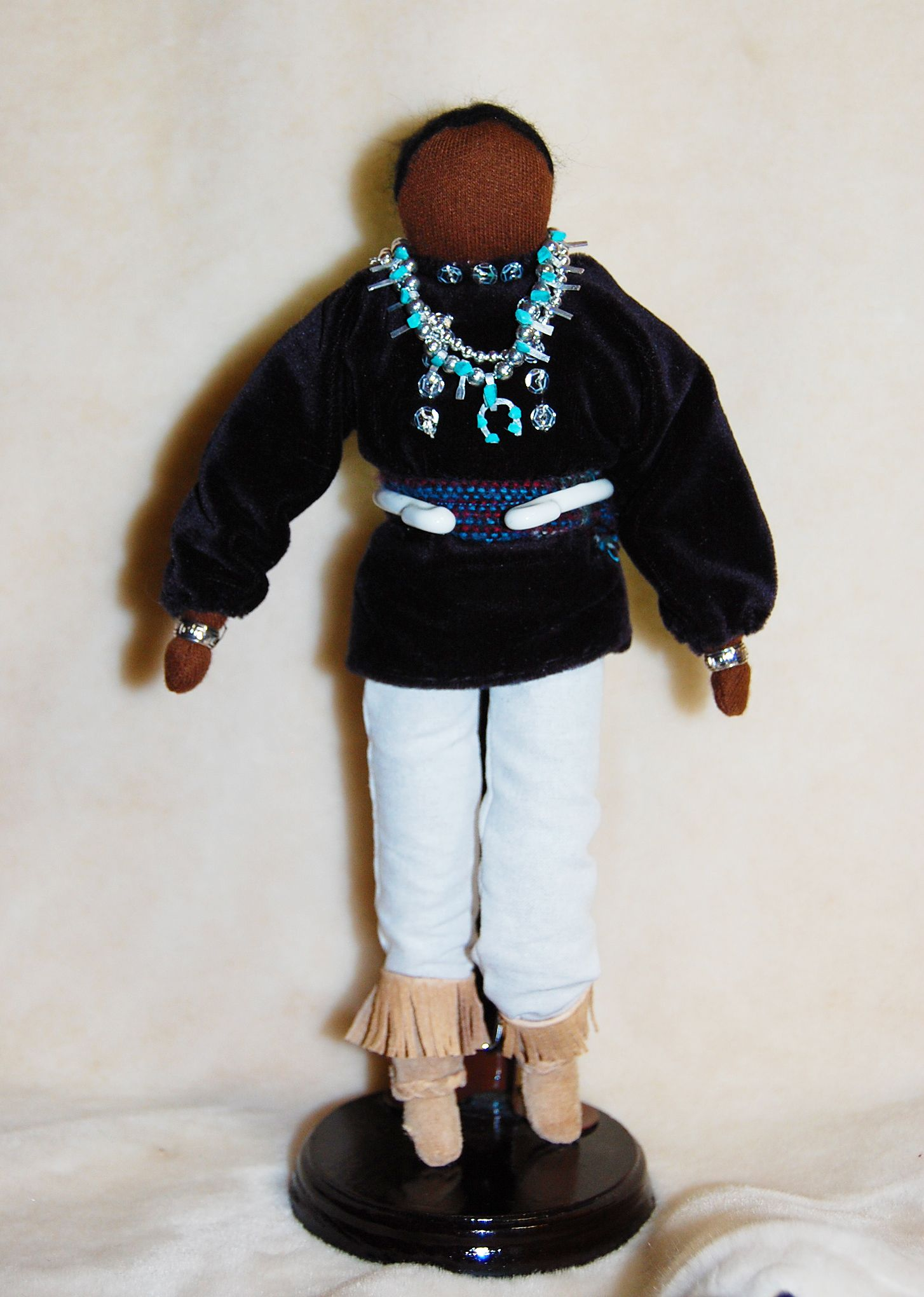 This Is A Navajo Male Soft Doll He Wears A Traditional Velvet