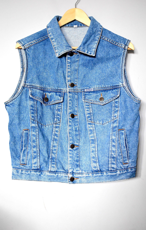 Vintage 90 S Blue Denim Vest Women S Sleeveless Jean Etsy Womens Denim Vest Sleeveless Jean Jackets Denim Vest [ 3000 x 1904 Pixel ]