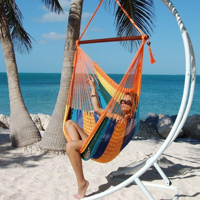image gallery  u003e multicolor caribbean jumbo hammock chair   beachside hammocks image gallery  u003e multicolor caribbean jumbo hammock chair      rh   pinterest