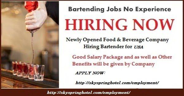 Skyspringhotel Few Part Time Barman Bartender Jobs In Usa Intervi Bartender Job Dubai