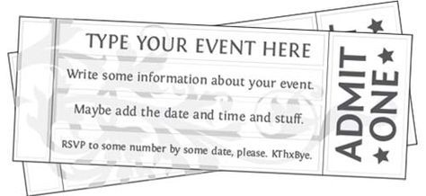 picture about Admit One Ticket Printable named No cost Printable Function Ticket Template in the direction of Personalize Do it yourself