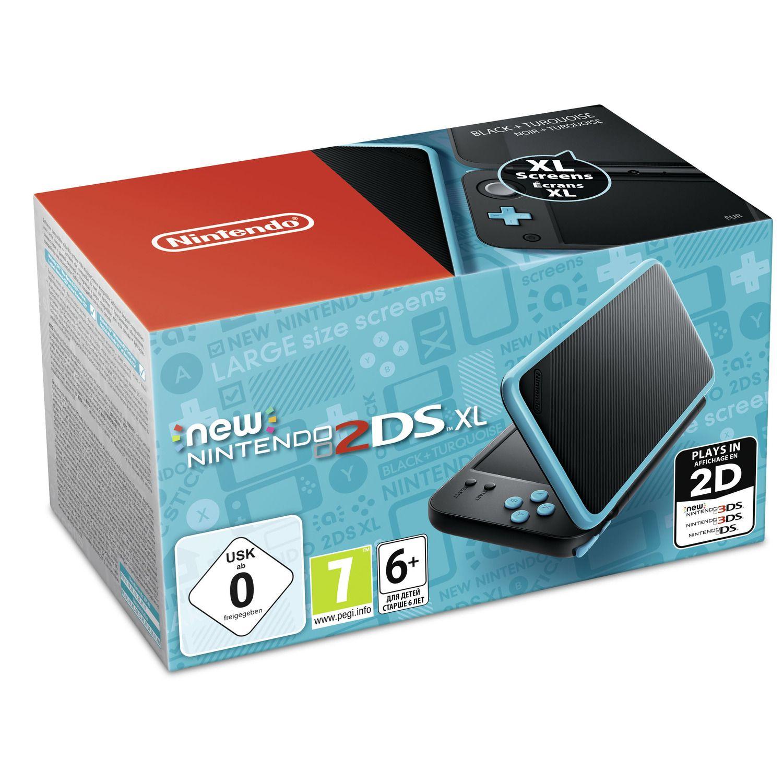 New 2ds Xl Turquoise Et Noire Nintendo La Console De Jeu A Prix Carrefour Nintendo 2ds Nintendo Jeux Nintendo 3ds