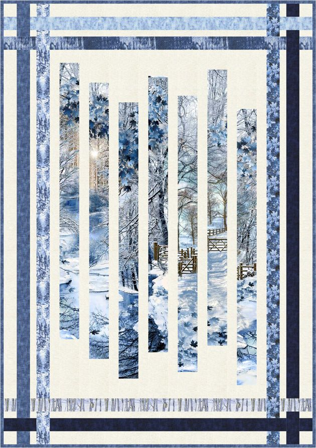 Free Pattern Scenic Snowfall Quot Fracture Quot Quilt By Pam
