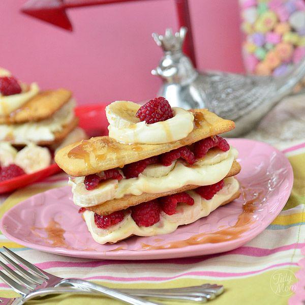 Easy Raspberry Banana Napoleon Dessert Recipe