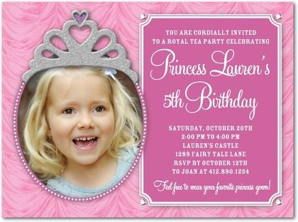Cool FREE Template 5th Birthday Party Invitation Wording – Baby Girl Birthday Invitation Wording