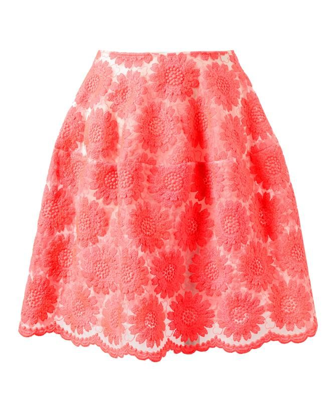 Browns fashion & designer clothes & clothing | SIMONE ROCHA | Floral Embroidered Silk-blend Skirt