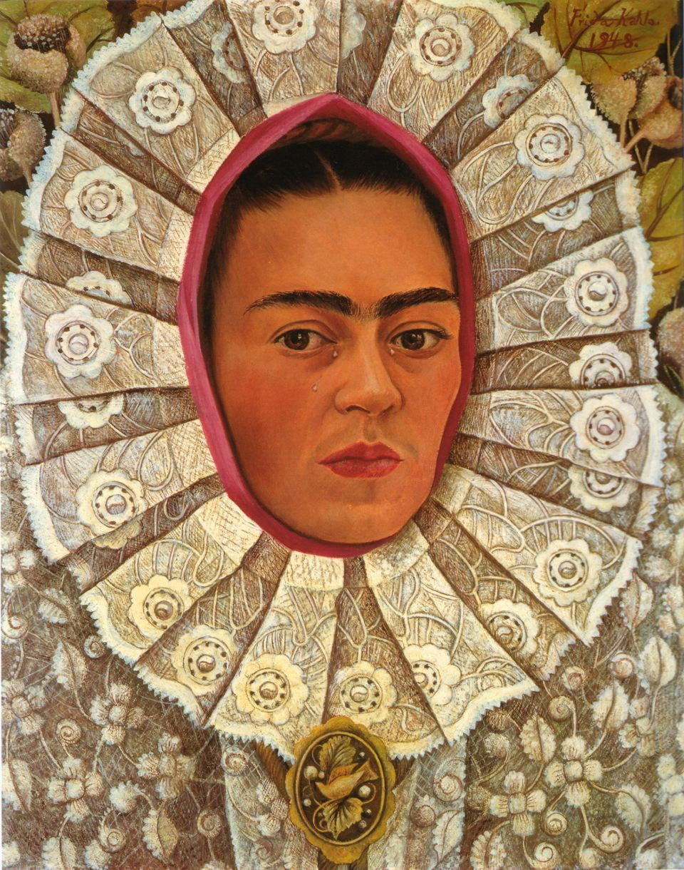 Frida Kahlo. Self Portrait, 1948, with Tehuana headdress