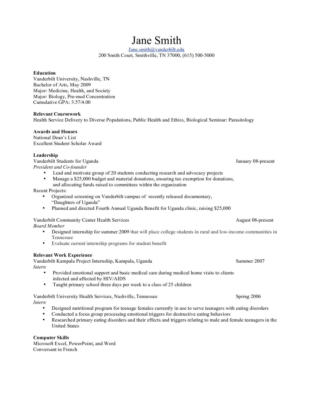 Teenager | Resume Templates | Pinterest | Template, Student resume ...