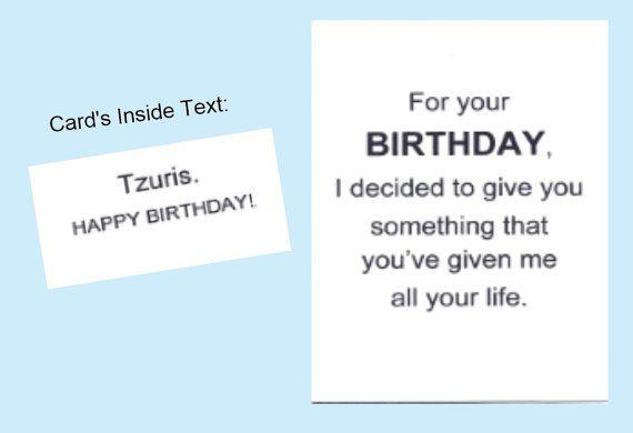 Birthday Greeting Card Jewish Humor Yiddish By Krazycards On Etsy
