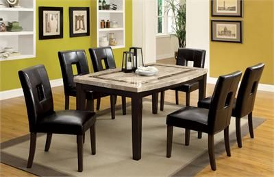 Lisbon I Oval Edge Dark Walnut Marble Dining Table Dining Table