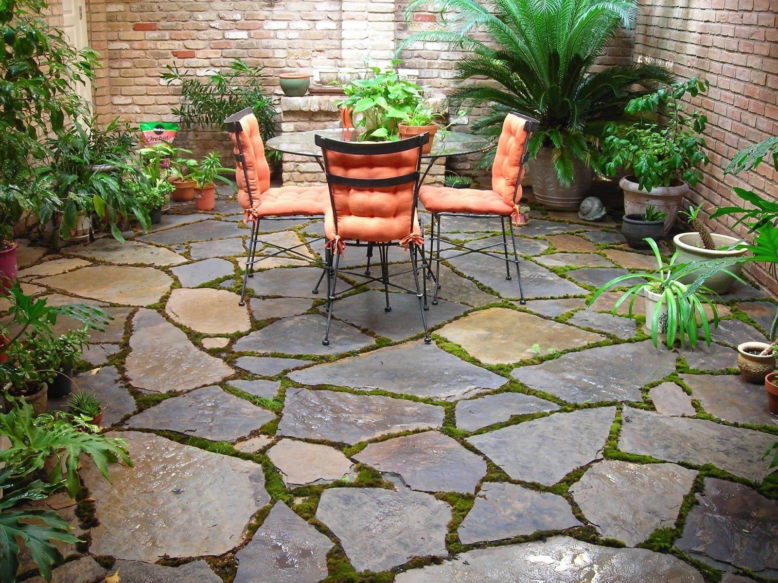 Patio Stone Backyard Designs Pusmun