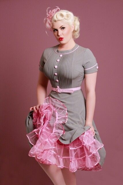 Love the pink in the dress and pink petticoat