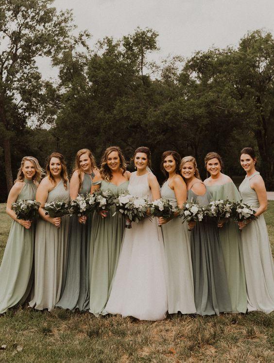 32++ Sage green bridesmaid dress info