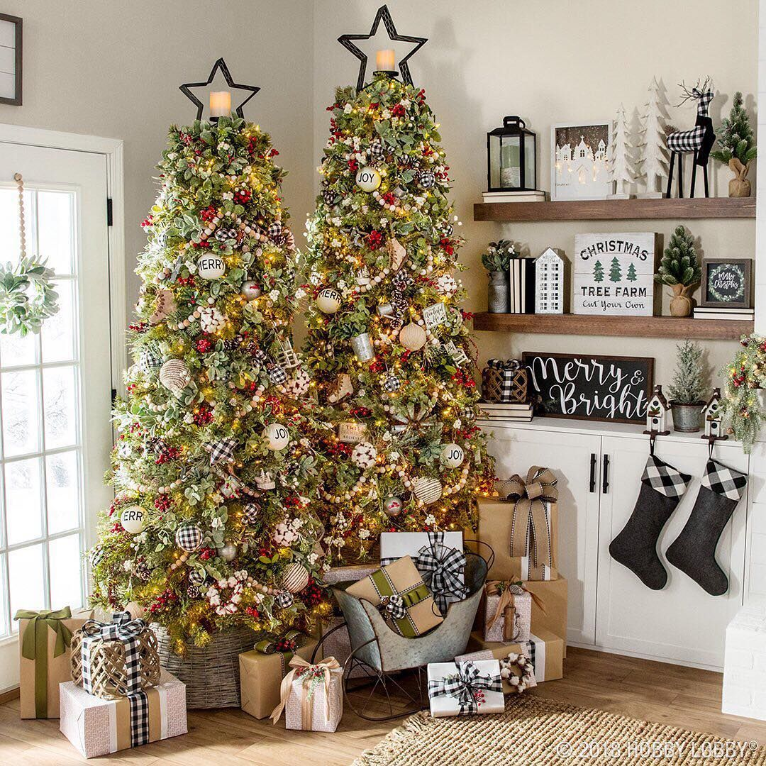 Which Christmas Color Combination Do You Like Best Black And White Or Black And Red Hobby Lobby Christmas Trees Hobby Lobby Christmas Holiday Decor