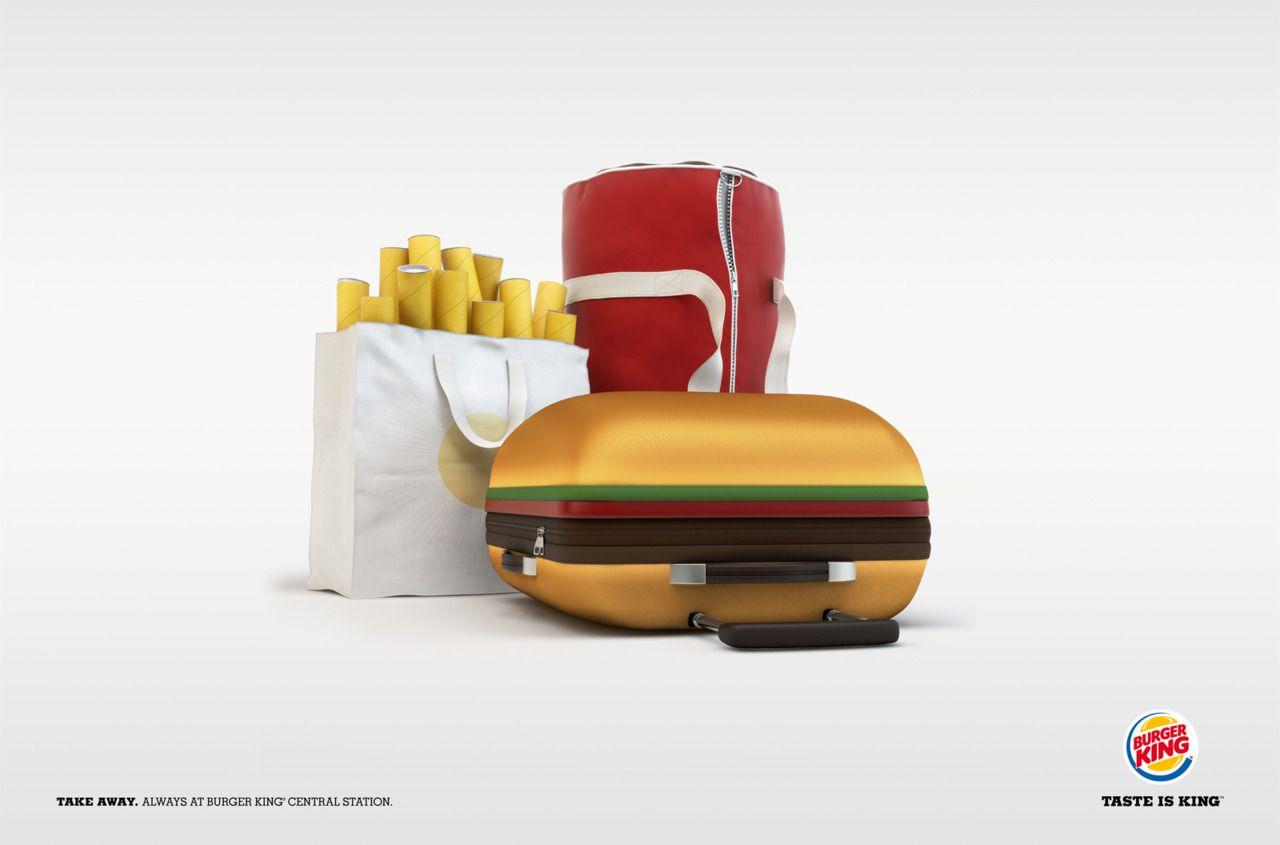 Burger King para llevar... ¡Amo esta gráfica! :-D