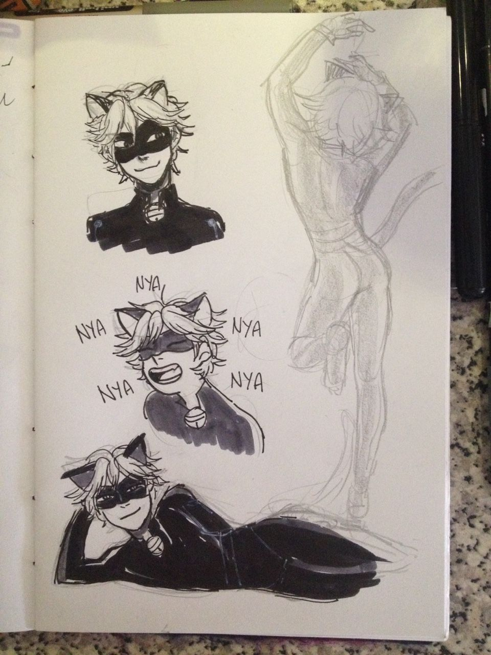 chat noir is so fun to draw
