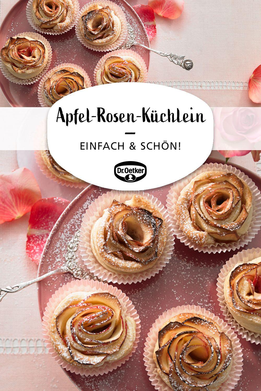 Apfel-Rosen-Küchlein