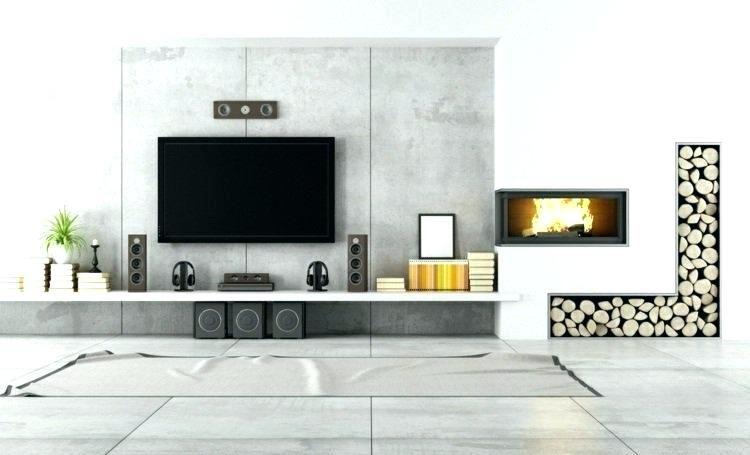 Meuble Tv Avec Cheminee Meuble Tv Avec Cheminee Fixation Murale Tv