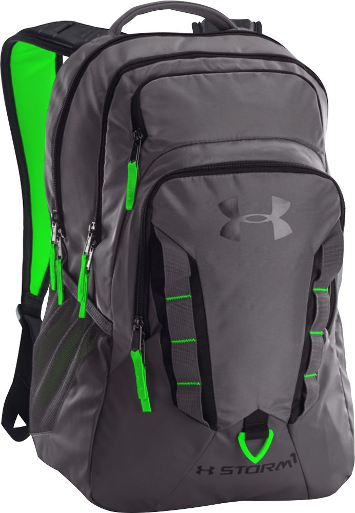 e685d12cd4 Under Armour - Storm Recruit Laptop Backpack - Graphite Hyper Green  (Grey Hyper Green)