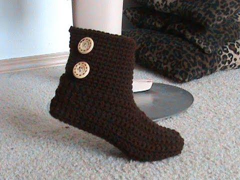 6deb81a65a37 Crochet Glama s 2 in 1 Bootie Slipper Tutorial