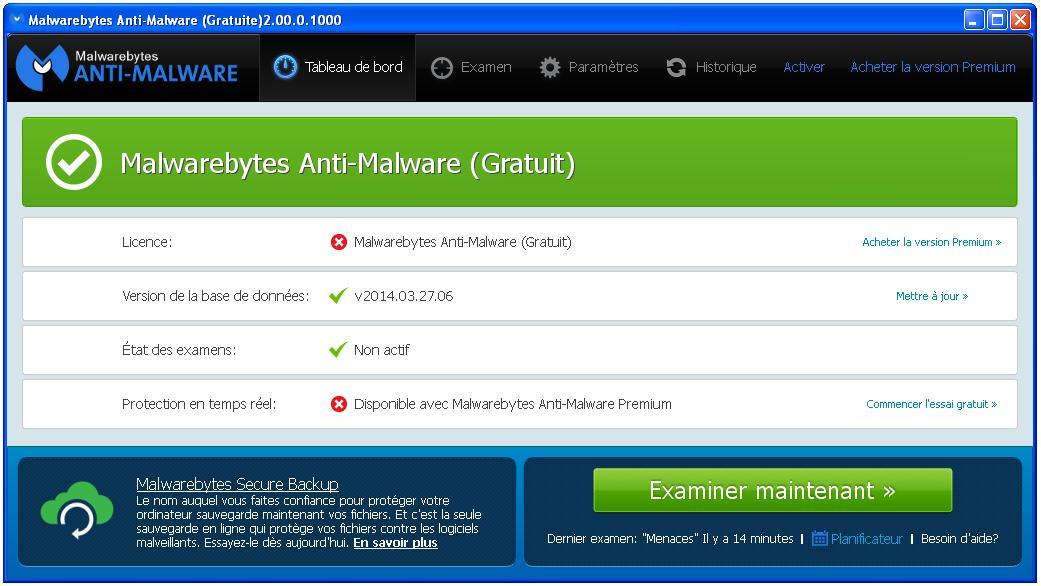 Malwarebytes Anti Malware Dictionnaire Anglais Francais Windows Xp Ordinateur