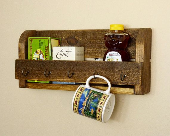 Rustic Bathroom Organizer Kitchen Organizer by HomesteadTraditions