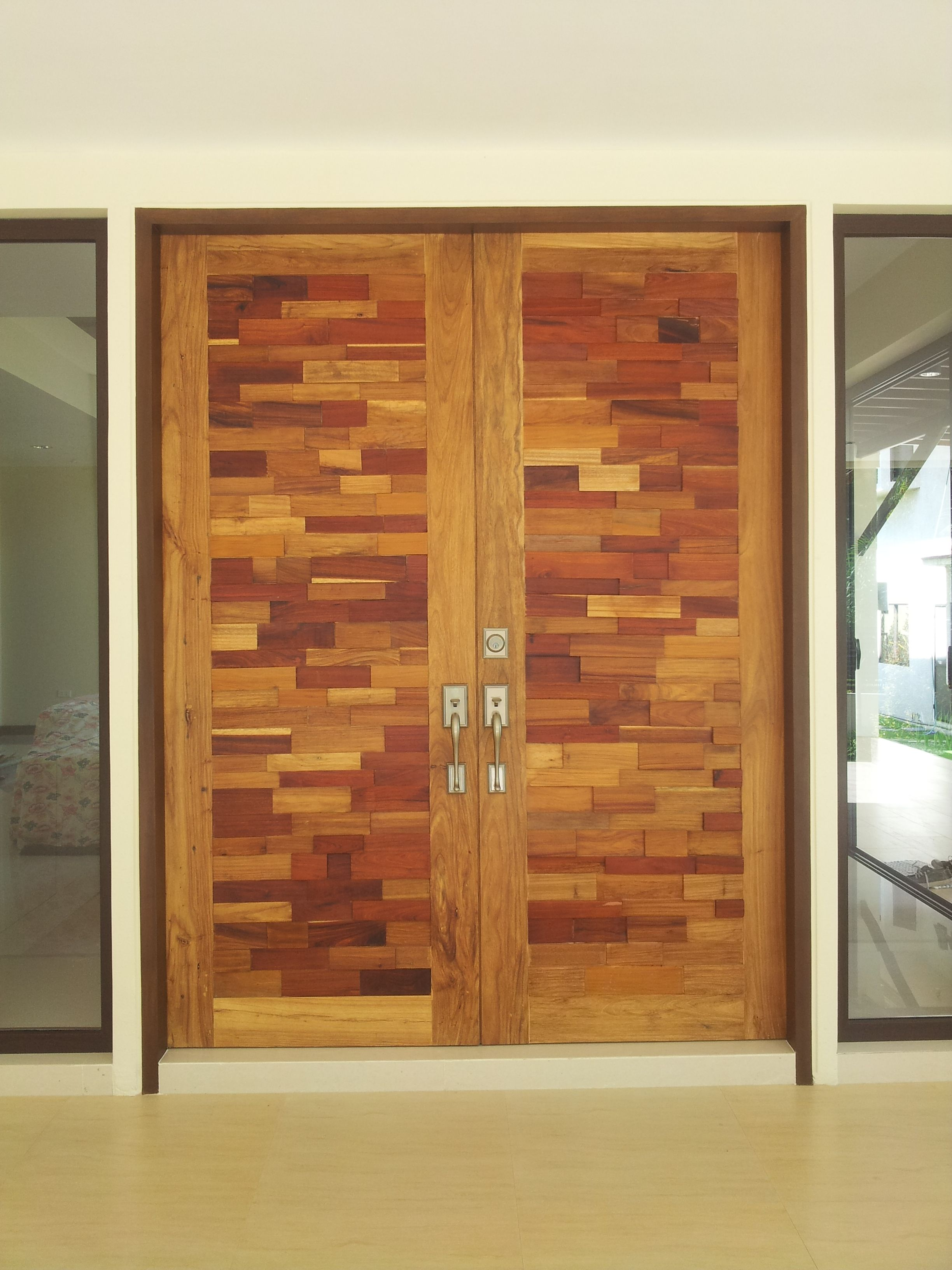 main door variety of wooden blocks Solid wood panel door light varnish : varnish doors - Pezcame.Com