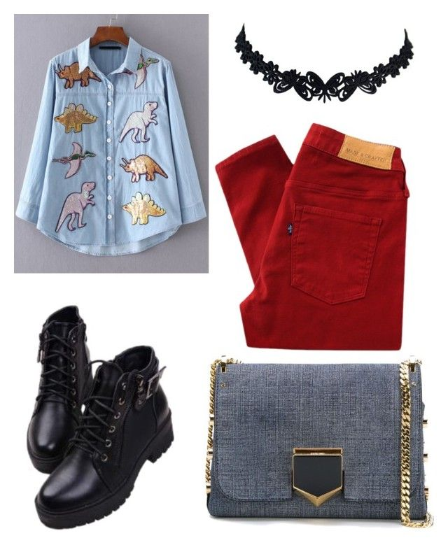 """""""Senza titolo #534"""" by kirsten-weigh on Polyvore featuring moda, Jimmy Choo e Levi's Made & Crafted"""