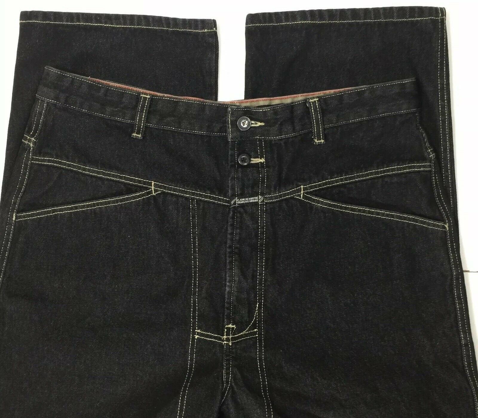 Marithe Francios Girbaud Jeans Mens 36x32 Dark Black Mfg Hip Hop Baggy Street Ebay Mens Jeans Hip Hop Jeans Girbaud Jeans