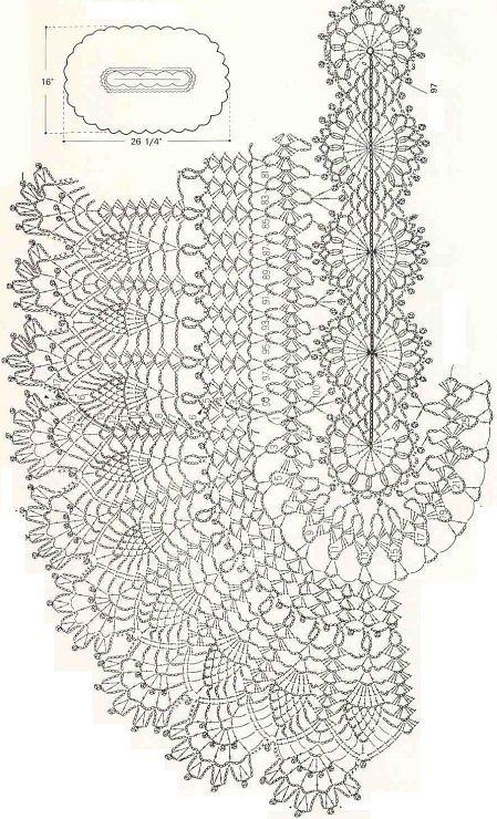 crochet pineapple border diagram   Found on 300105.gallery.ru