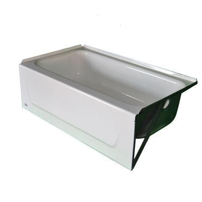 Bootz industries kona 4 1 2 ft bathtub with left hand for 4 foot bath tub