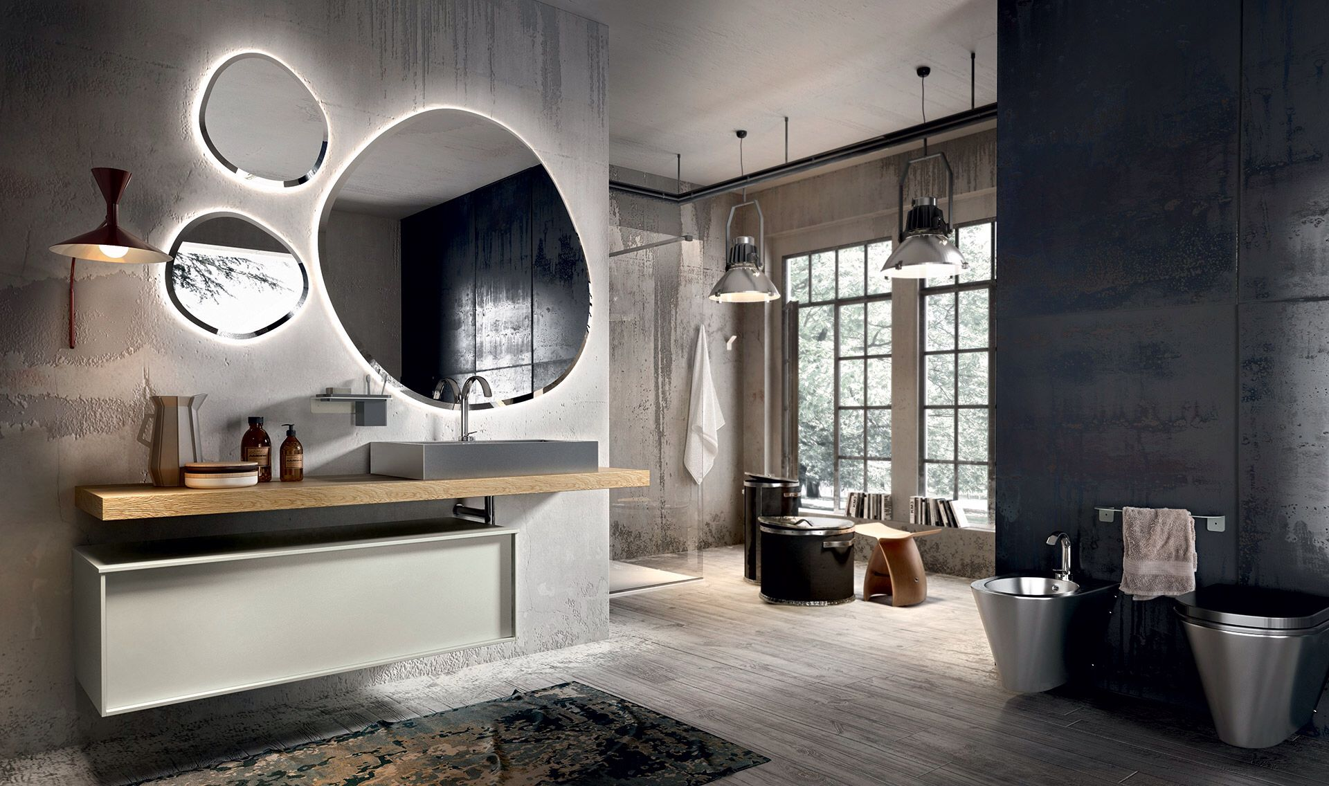 Pleasing Suspended Bathroom Vanity