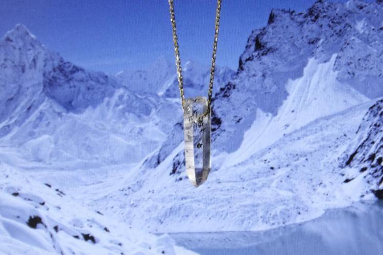 Naszyjnik Krysztal Gorski Lancuszek Srebrny 925 Landmarks Natural Landmarks Mountains