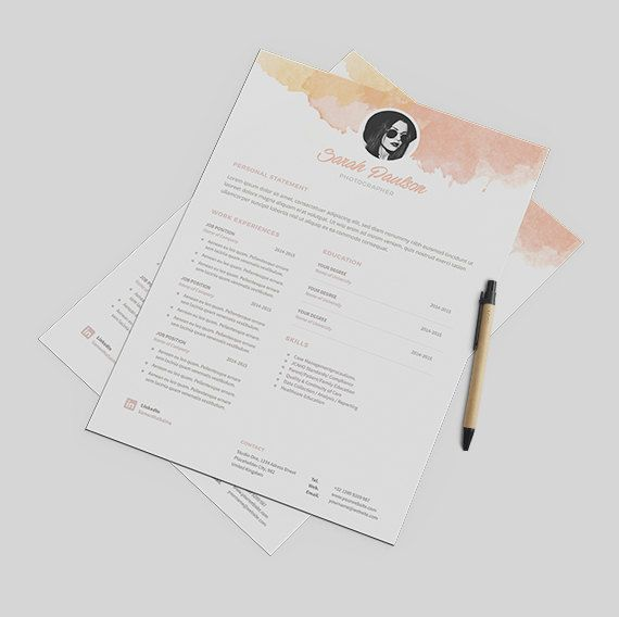 Creative Resume Template Instant Download + Cover Letter Format MS
