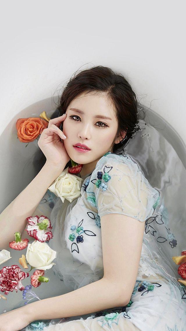 Kpop Artist Jeon Hyosung Secret Beauty Bath Iphone 5s Wallpaper Hyosung Secret Beauty Asian Beauty