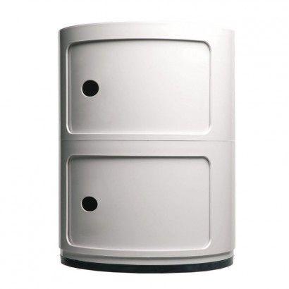 Container Componibili 2, rund, Weiß, 40 cm - Kartell SCHÖNER