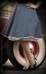 Rumble59 Ladies - Petticoat Skirt - Sweet Polkadots