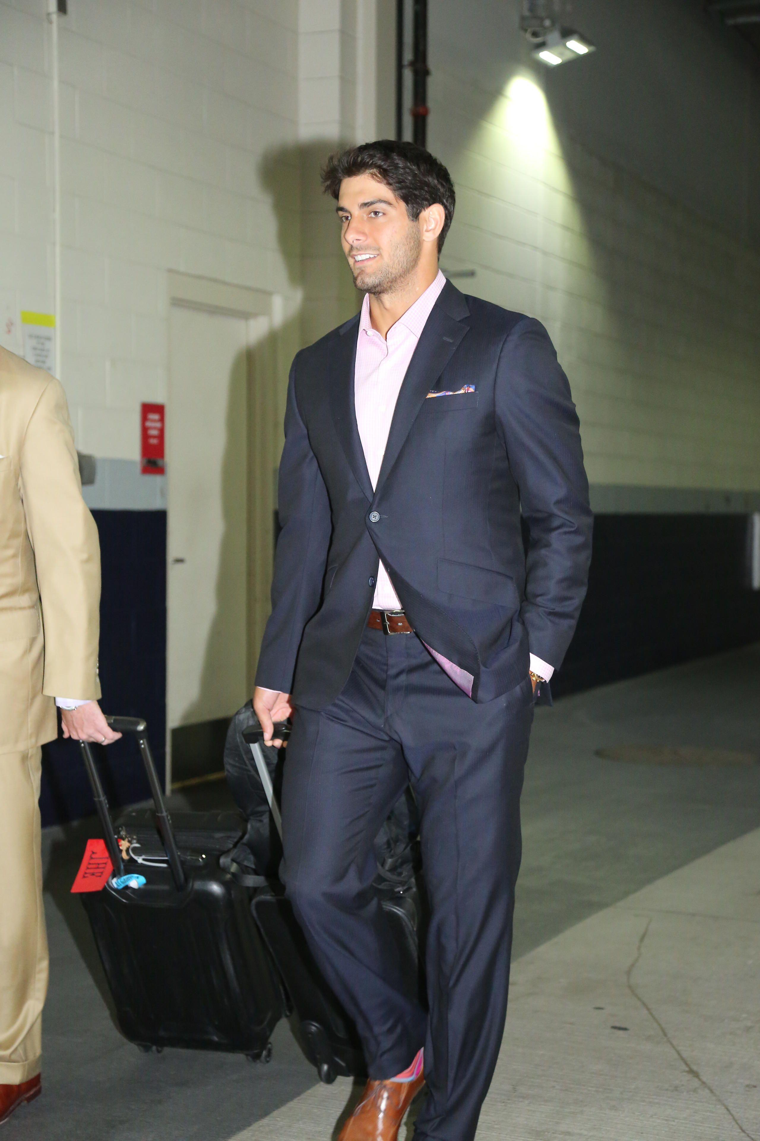 Jimmy Garoppolo suit - Google Search | Suit Men | Skinny ...
