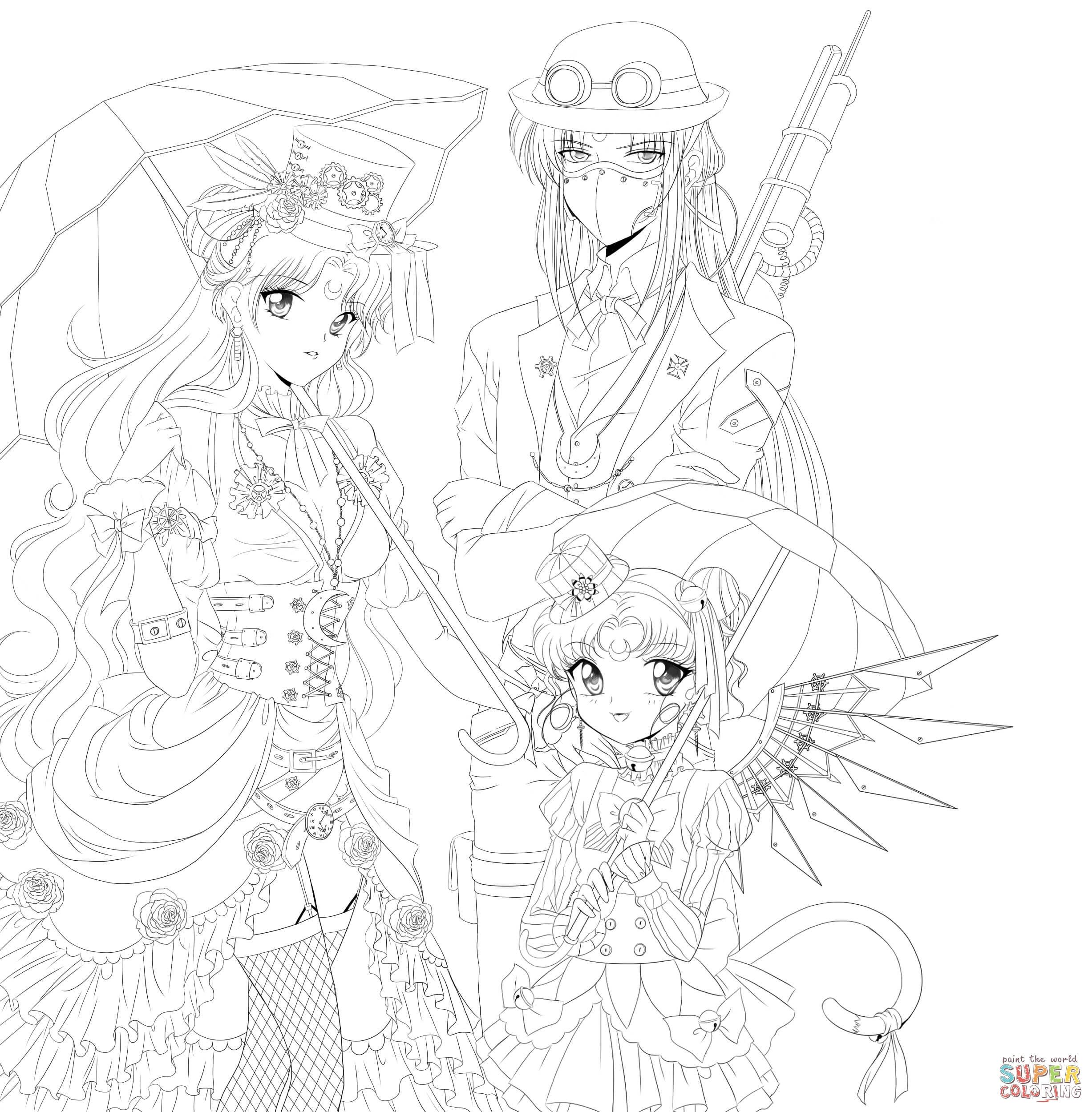 Steampunk Sailor Moon | Super Coloring | Sailor moon 15 | Pinterest